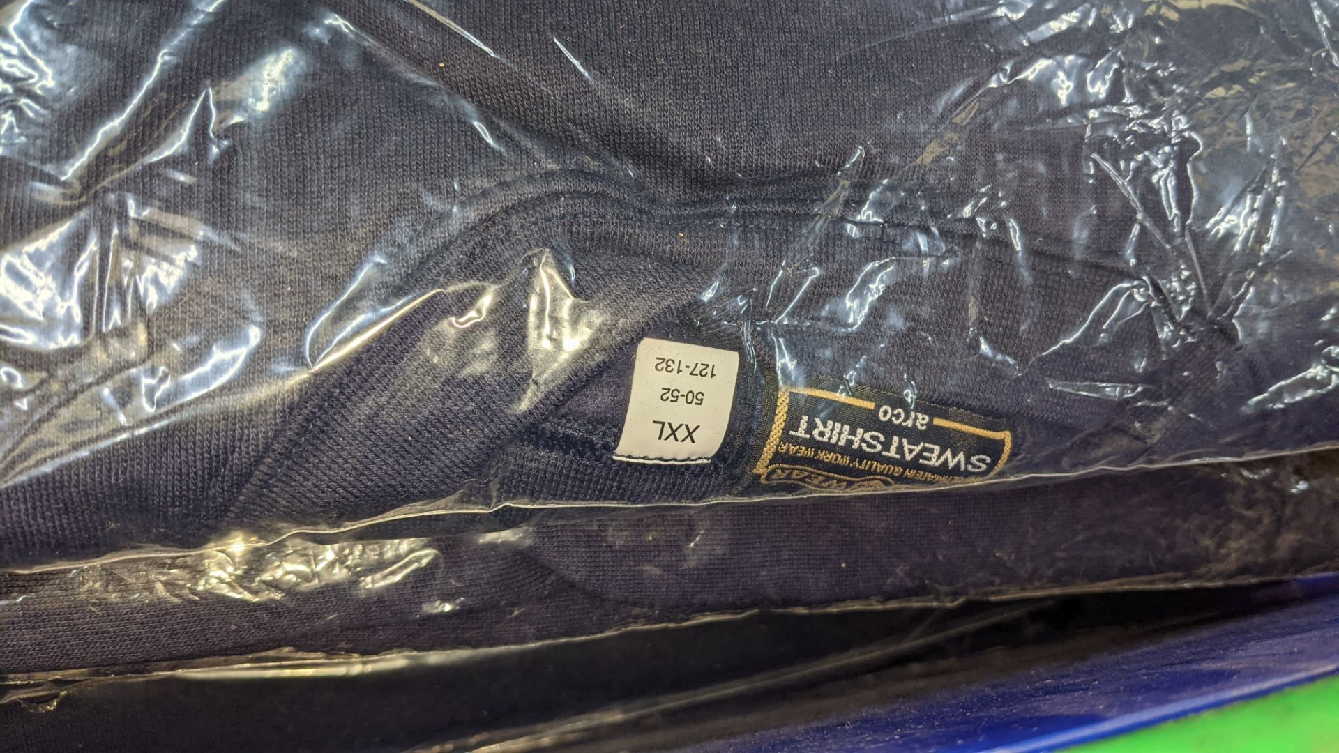 11 off workwear blue sweatshirts - the contents of 1 crate. NB crate excluded - Image 4 of 5