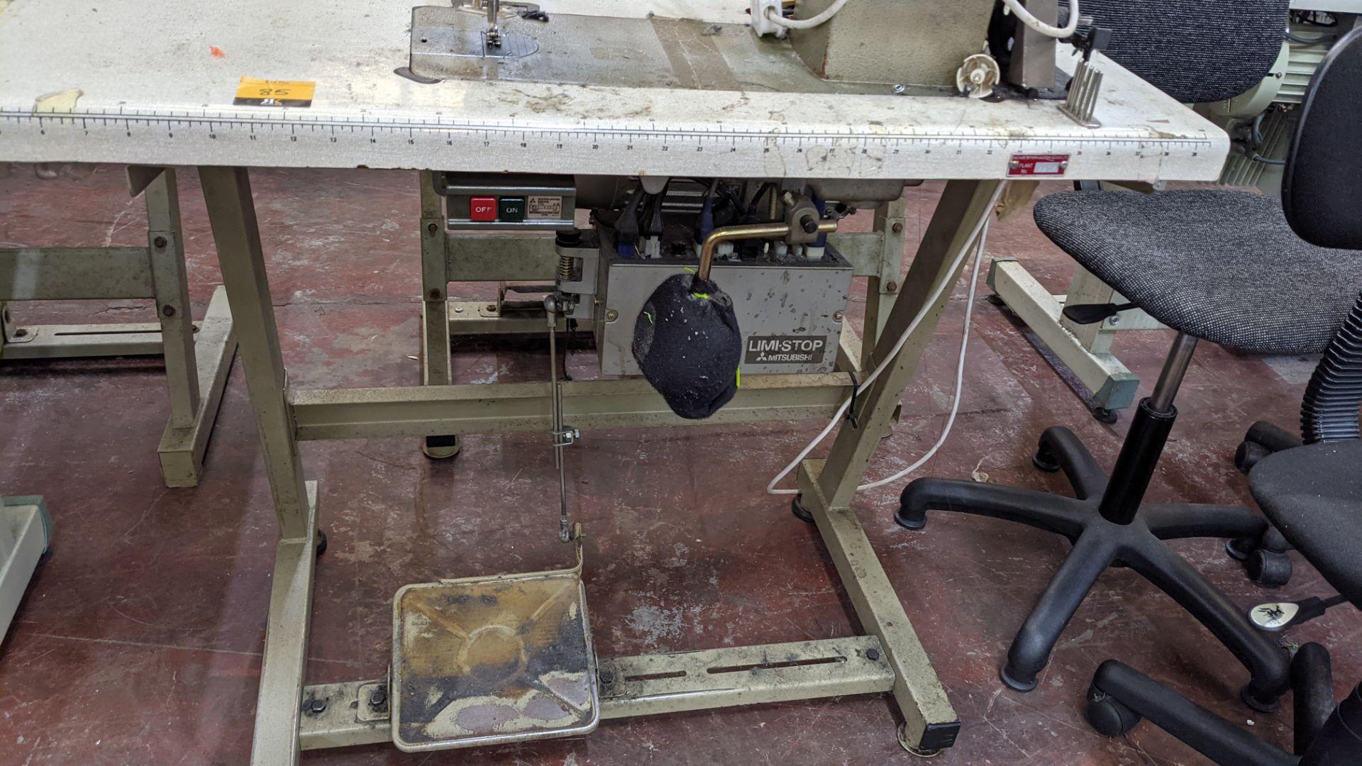 Mitsubishi LS2-180 sewing machine with Mitsubishi LF-C8 digital controller - Image 10 of 12