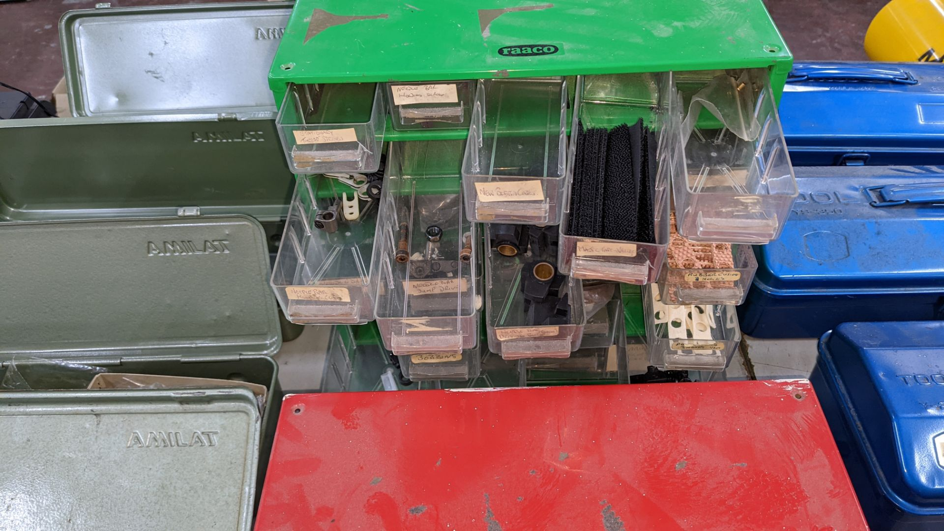 4 off mini cabinets & their contents of machinery parts & spares - Image 12 of 12
