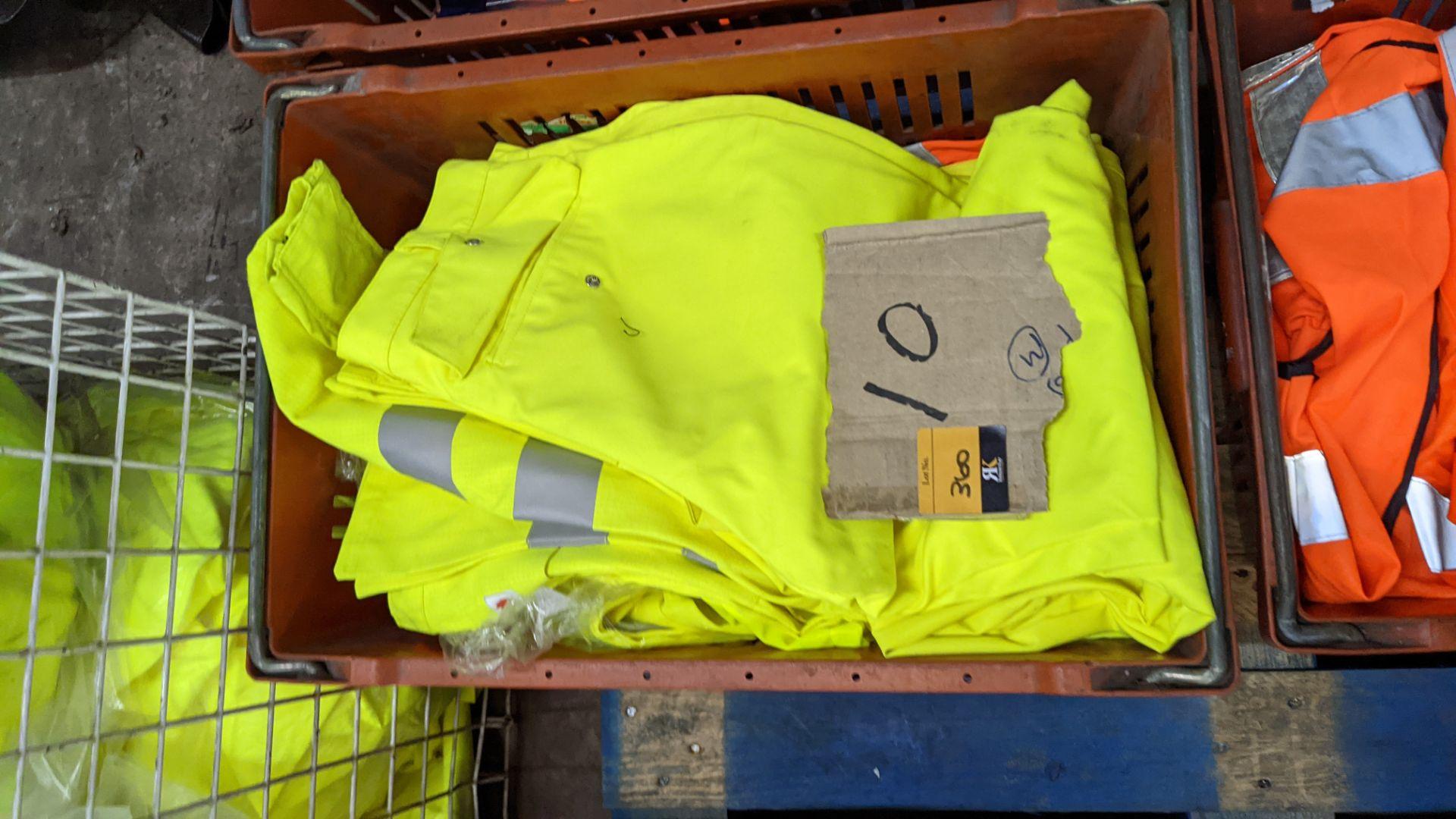 10 off hi-vis trousers in yellow & orange - Image 3 of 4