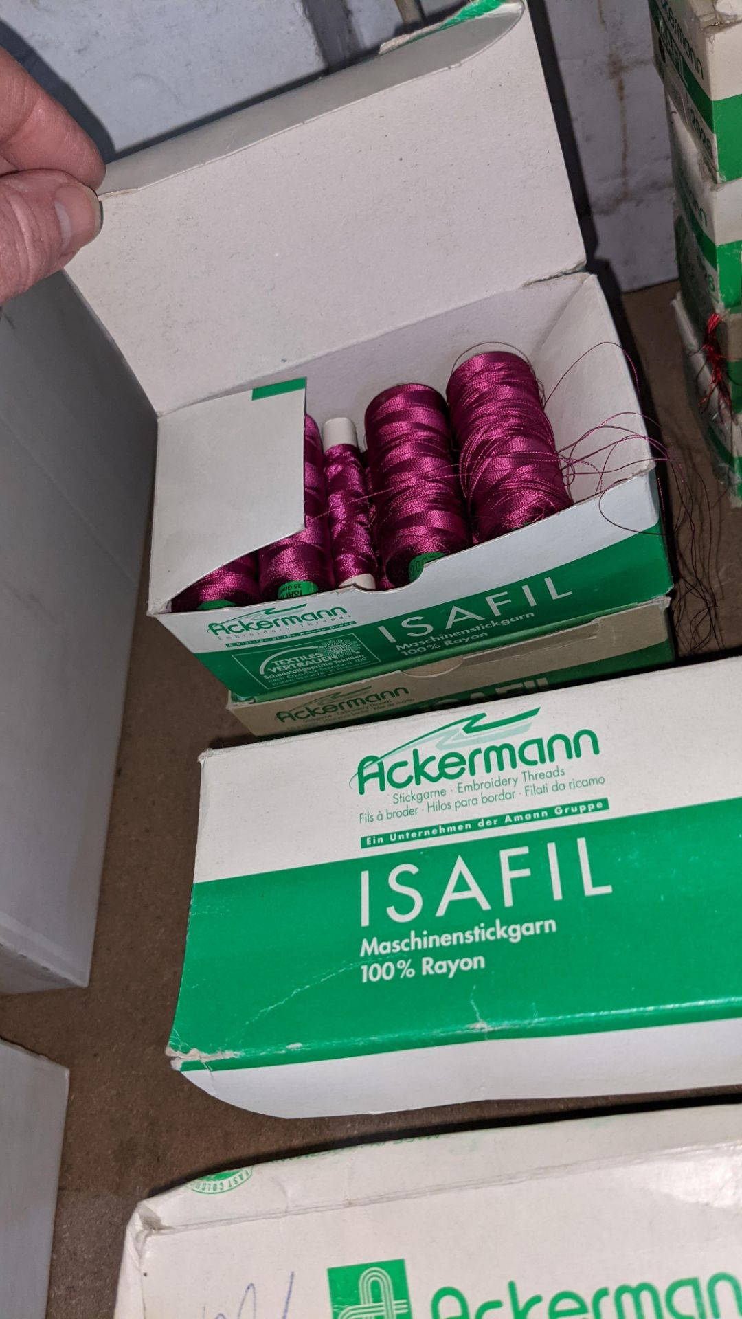 15 boxes of Ackermann Isafil viscose/rayon embroidery thread - Image 7 of 8