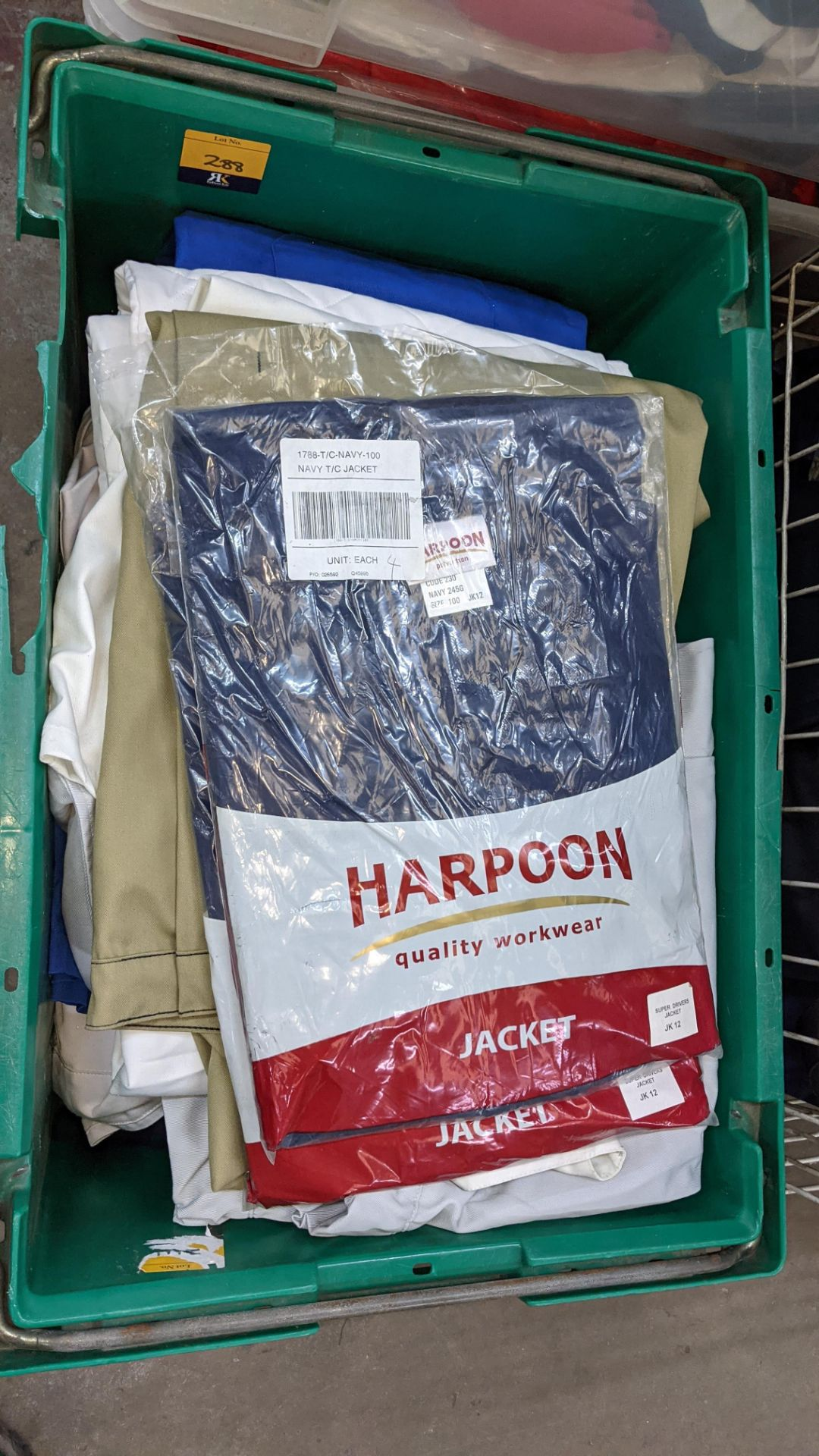 The contents of 1 crate & 1 large cage of assorted workwear jackets & similar. NB crate/cage exclu - Image 4 of 11