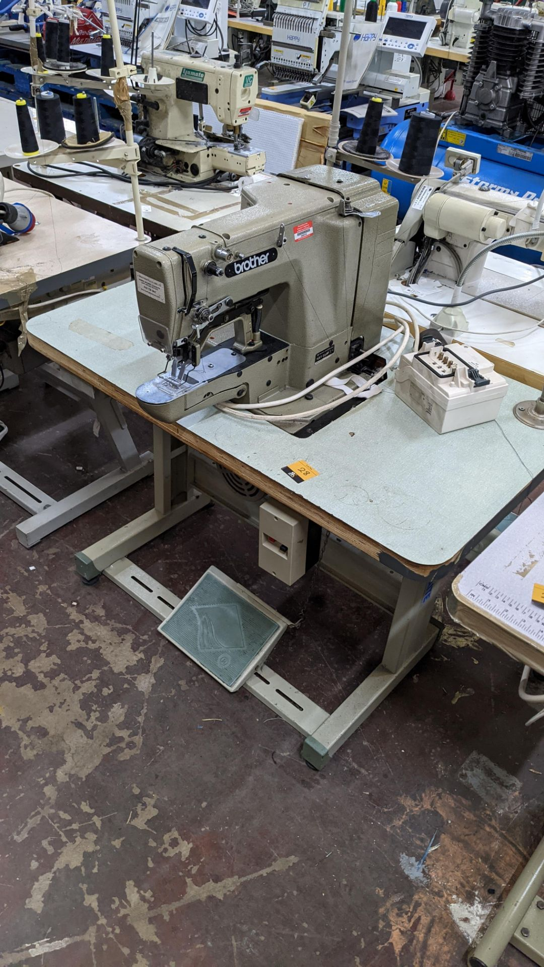 Brother bar tack sewing machine model LK3-B430-2 - Image 4 of 15