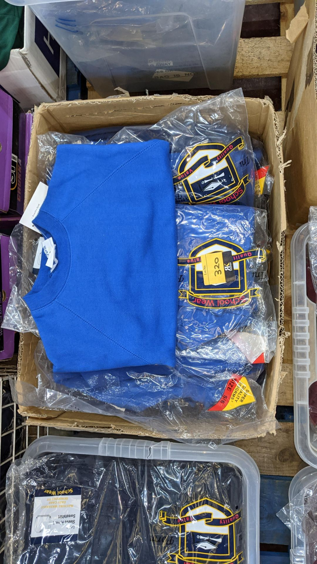 Approx 25 off blue children's sweatshirts & similar - the contents of 1 box - Image 3 of 3
