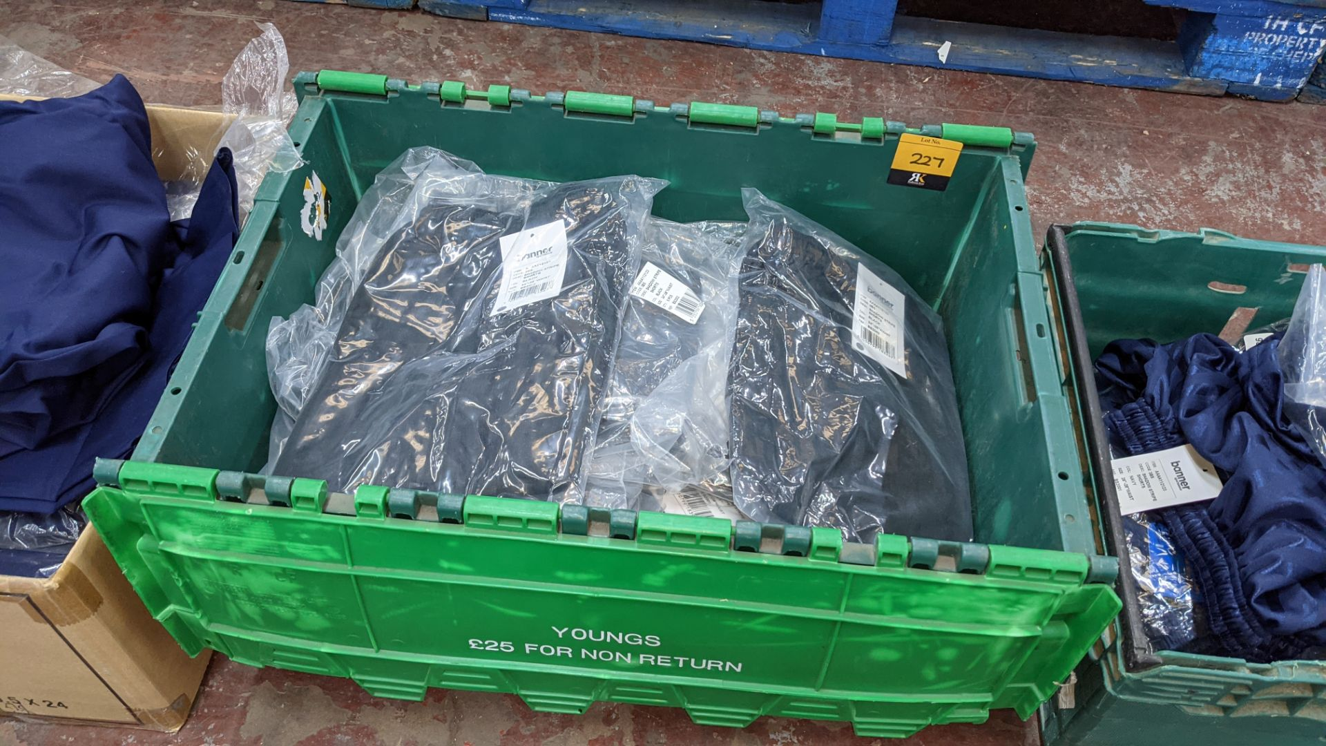 Approx 24 off Banner Sportswear black children's shorts - the contents of 1 crate. NB crate exclude - Image 2 of 4