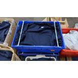 Quantity of blue sweatshirts (2 crates)