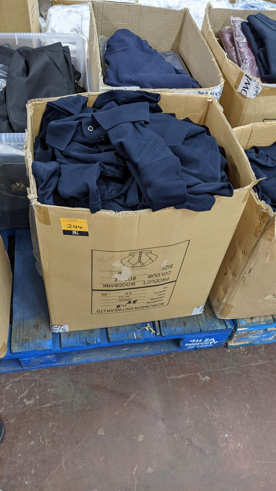 Large quantity of blue polo shirts - 1 box - Image 2 of 4