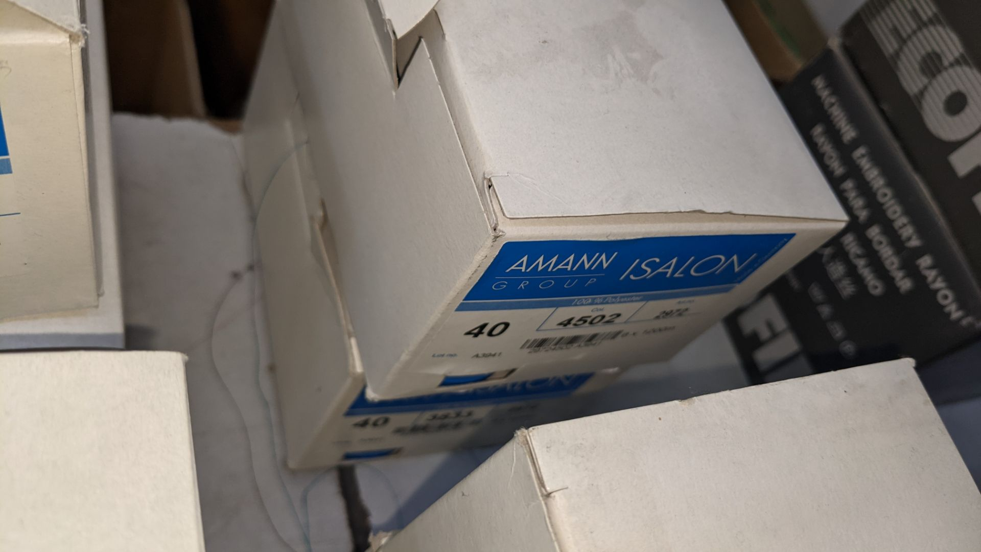 12 boxes of Amann Group ISALON 40 polyester embroidery thread - Image 9 of 9