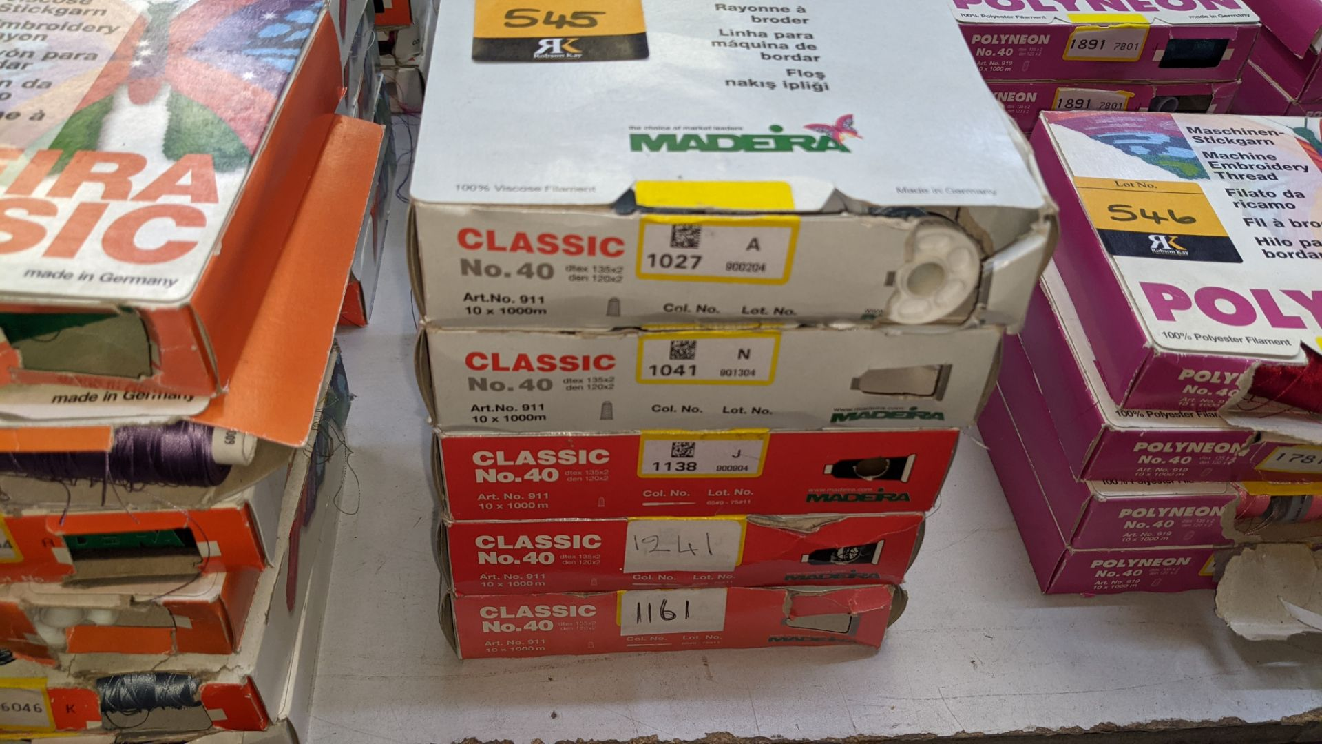 22 boxes of Madeira Classic No. 40 rayon embroidery thread - Image 4 of 11