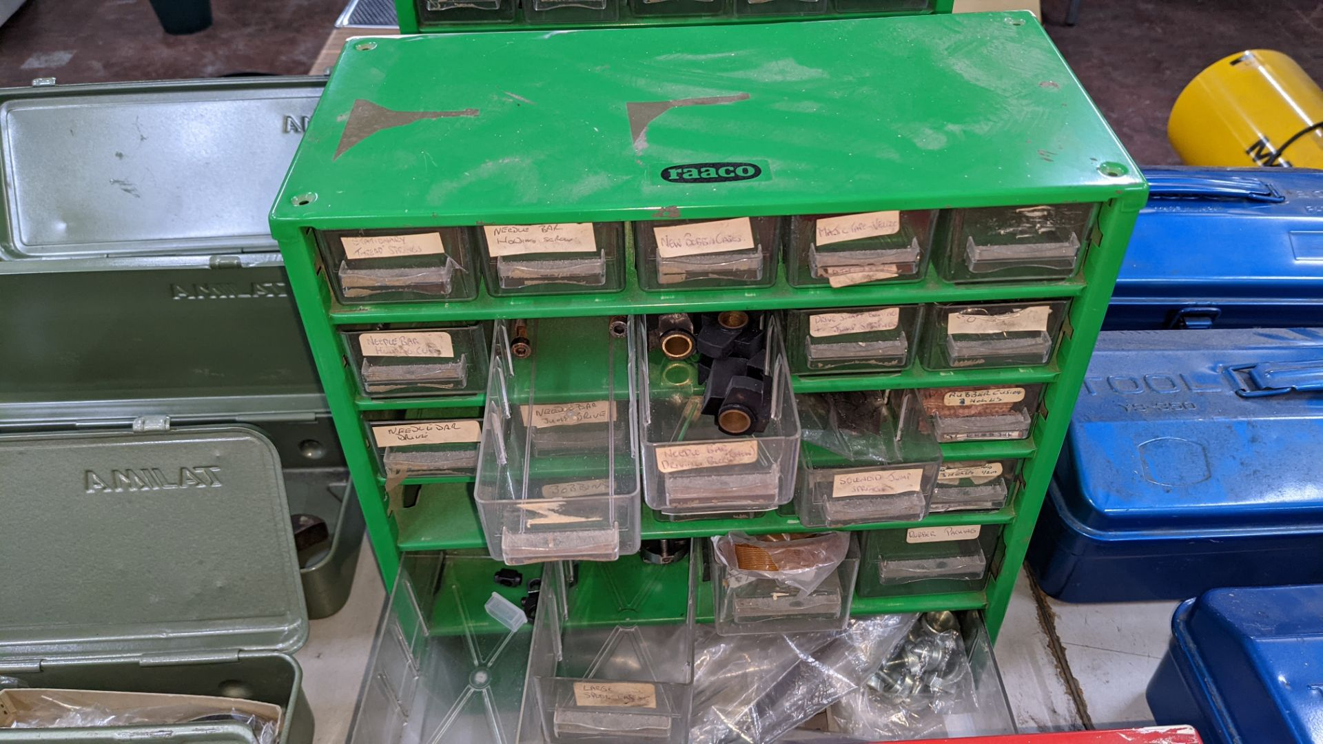 4 off mini cabinets & their contents of machinery parts & spares - Image 10 of 12