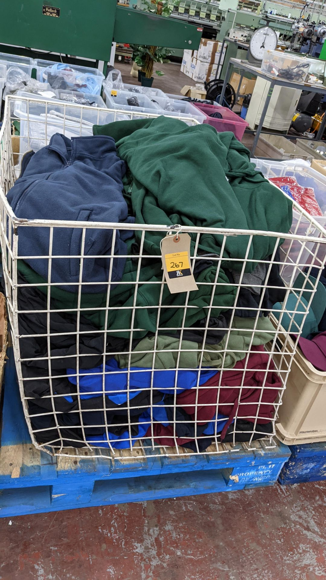 Large quantity of fleece tops - the contents of large cage. NB cage excluded - Image 3 of 8