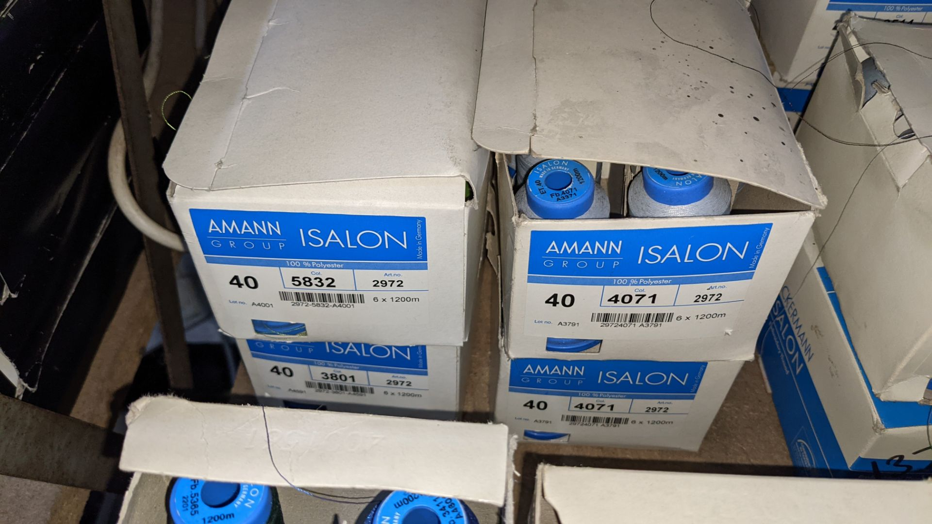 12 boxes of Amann Group ISALON embroidery thread - Image 4 of 6
