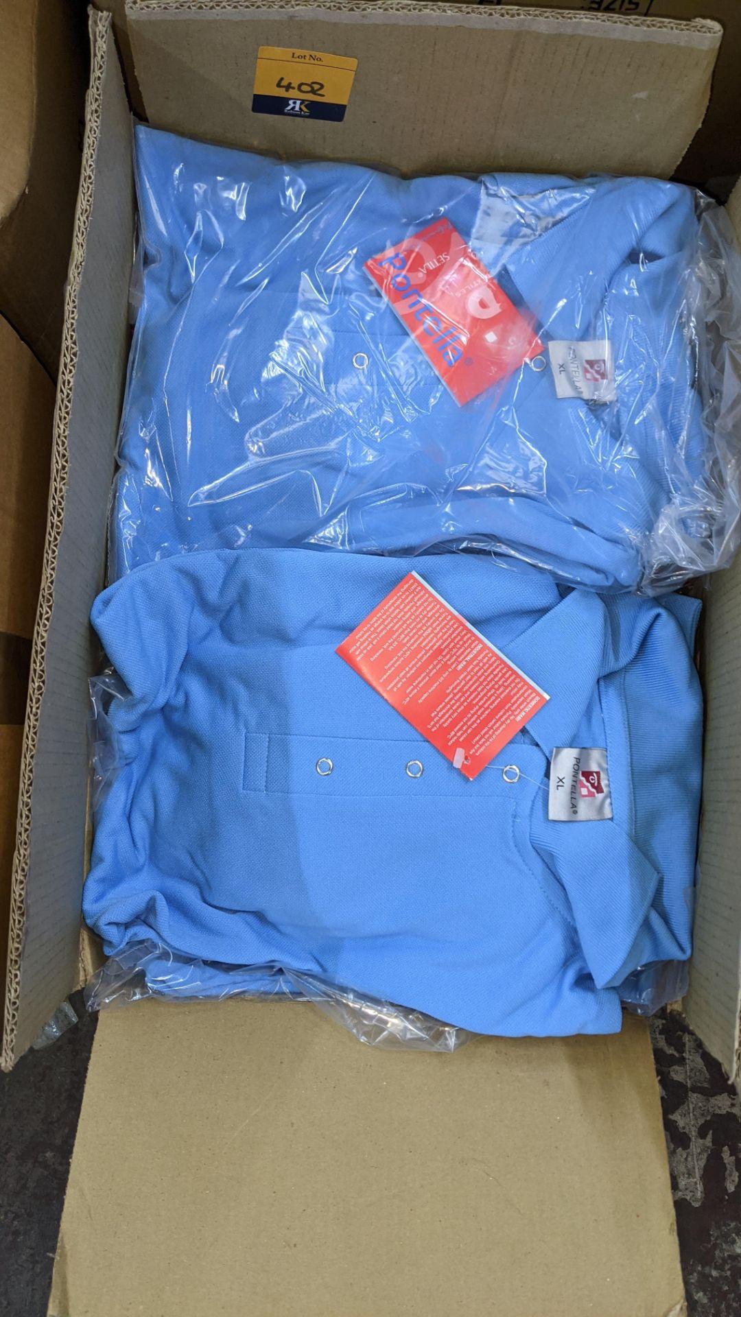 Approx 20 off Portland sky blue polo shirts - Image 3 of 4