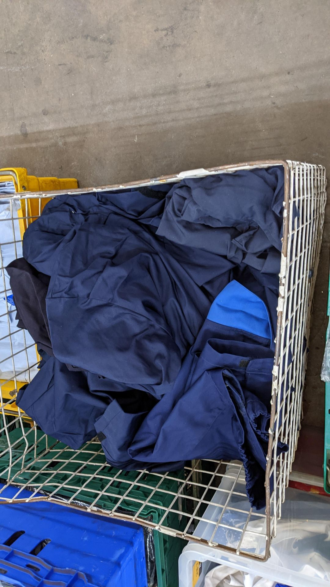 The contents of 1 crate & 1 large cage of assorted workwear jackets & similar. NB crate/cage exclu - Image 8 of 11