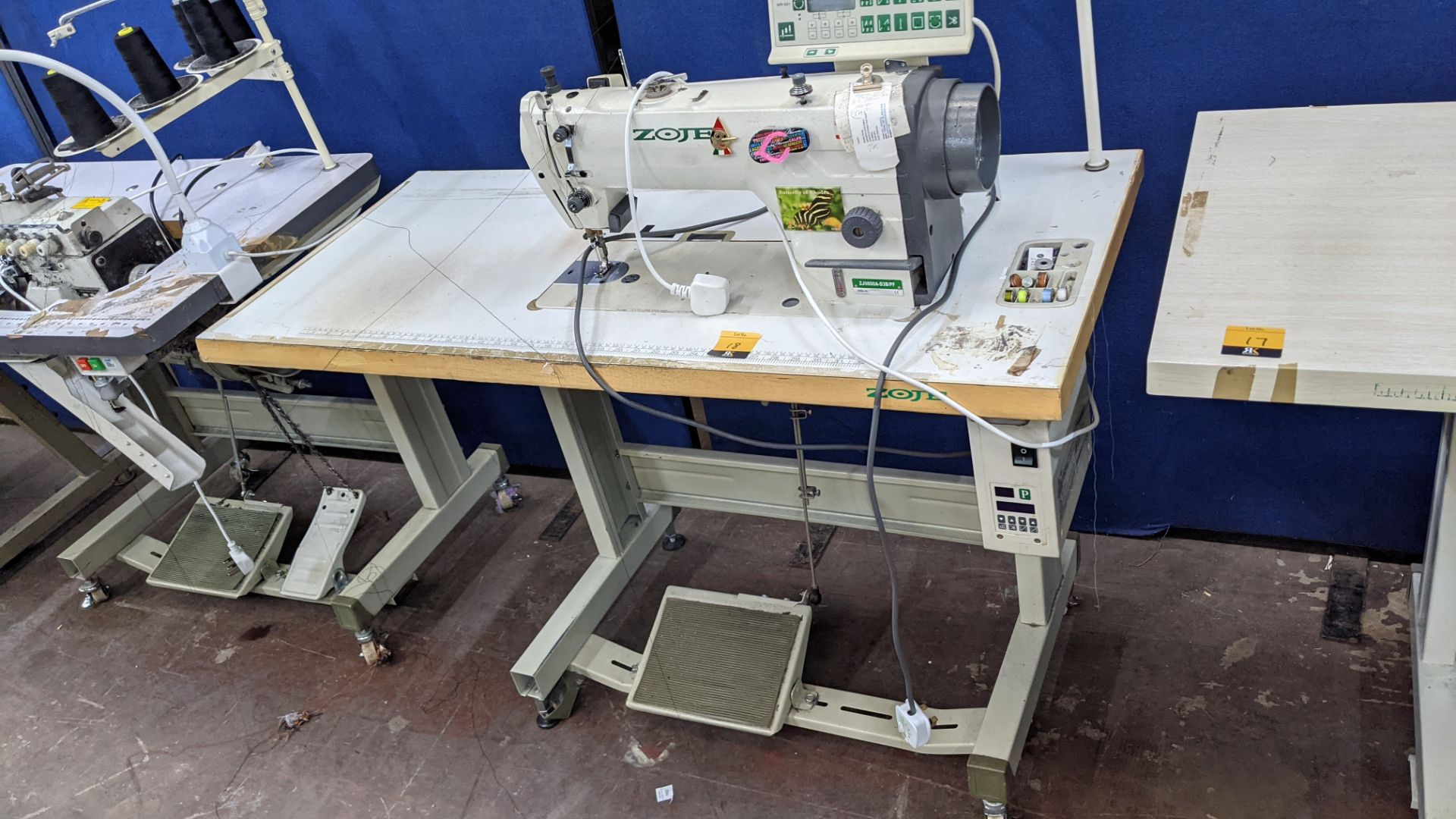 Zoje model ZJ9800A-D3B/PF lockstitch sewing machine with model WR-501 digital controller - Image 2 of 20