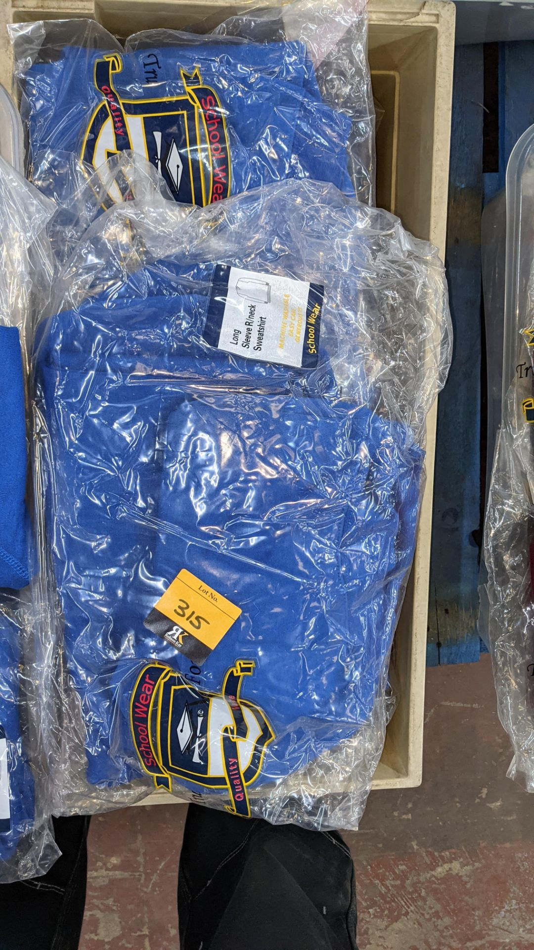 Approx 17 off blue children's sweatshirts & similar - the contents of 1 crate. NB crate excluded - Image 4 of 6