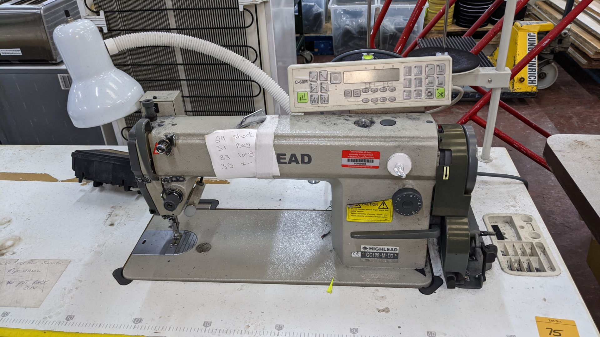 Highlead model GC128-M-D3 sewing machine with model C-60M digital controller - Image 6 of 17