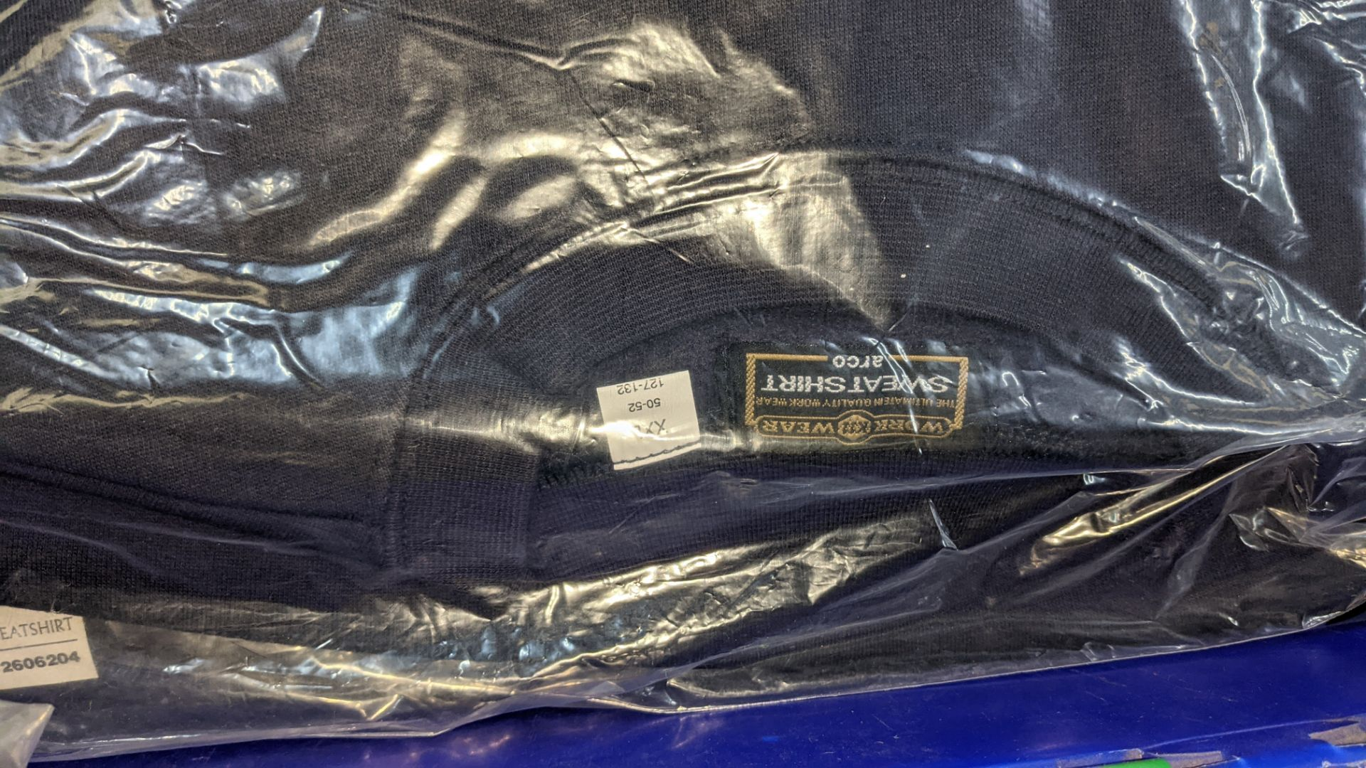 15 off workwear blue sweatshirts - the contents of 1 crate. NB crate excluded - Image 3 of 6