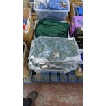 Approx 80 off green polo shirts & sweatshirts - the contents of 2 boxes/crates. NB boxes/crates exc