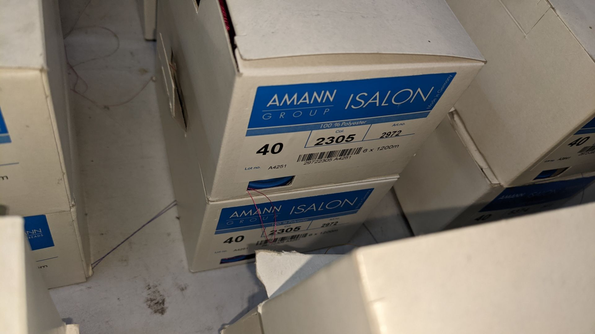 12 boxes of Amann Group ISALON 40 polyester embroidery thread - Image 9 of 11
