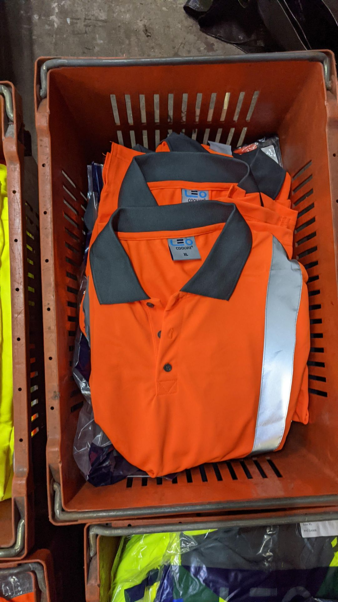 13 off hi-vis polo shirts (orange) - Image 4 of 4