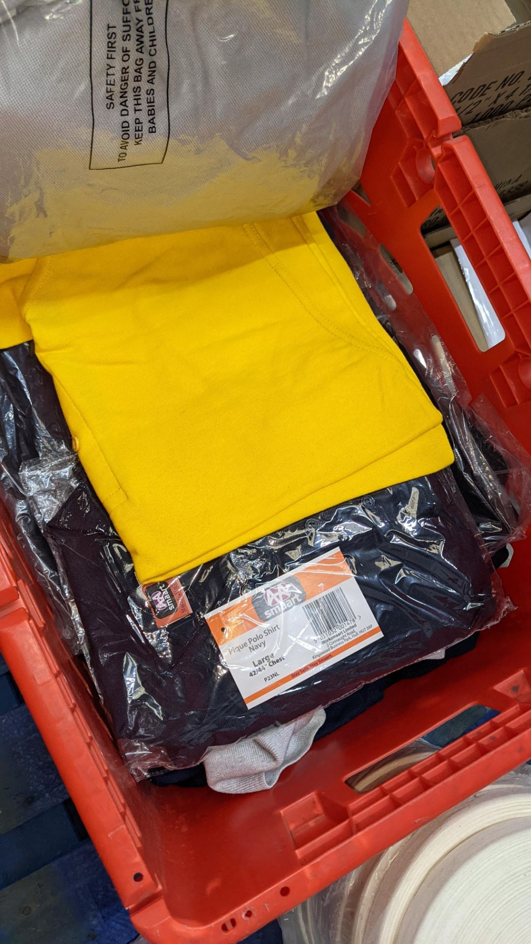 Quantity of assorted polo shirts & similar - the contents of 1 large crate - Image 5 of 6