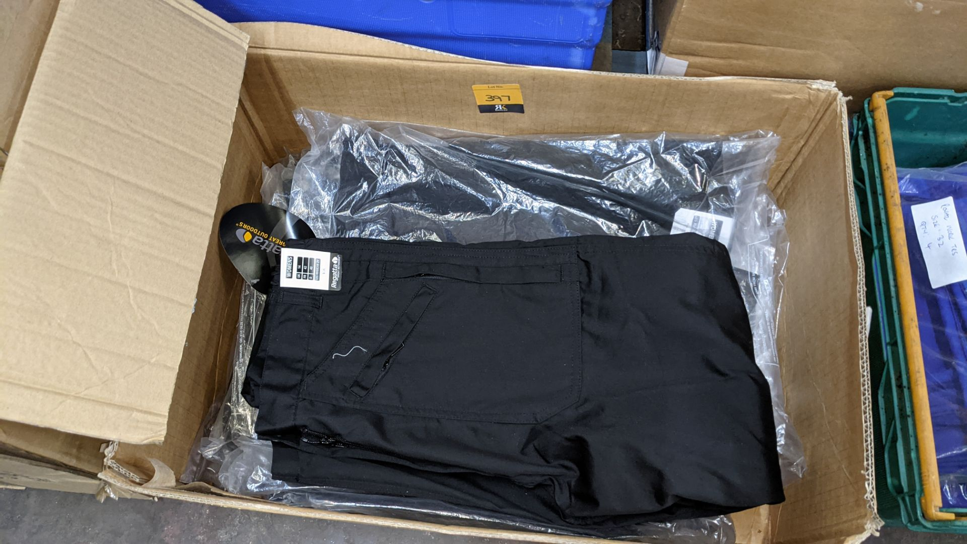 Quantity of black & blue trousers comprising the contents of 1 box & 1 crate - Image 4 of 8