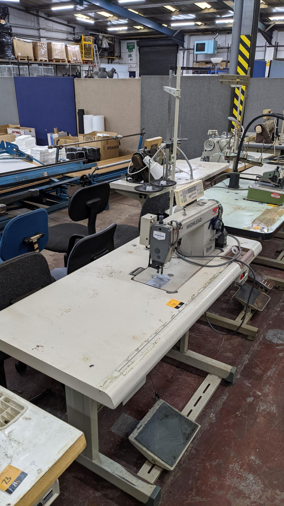 Highlead model GC128-M-D3 sewing machine with model C-60M digital controller - Image 14 of 14