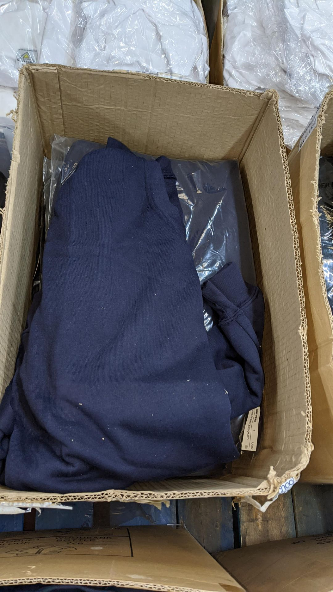 Approx 20 off blue sweatshirts - 1 large box - Image 3 of 5