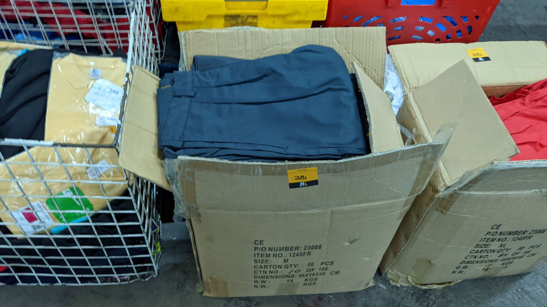 Approx 40 pairs of dark grey trousers