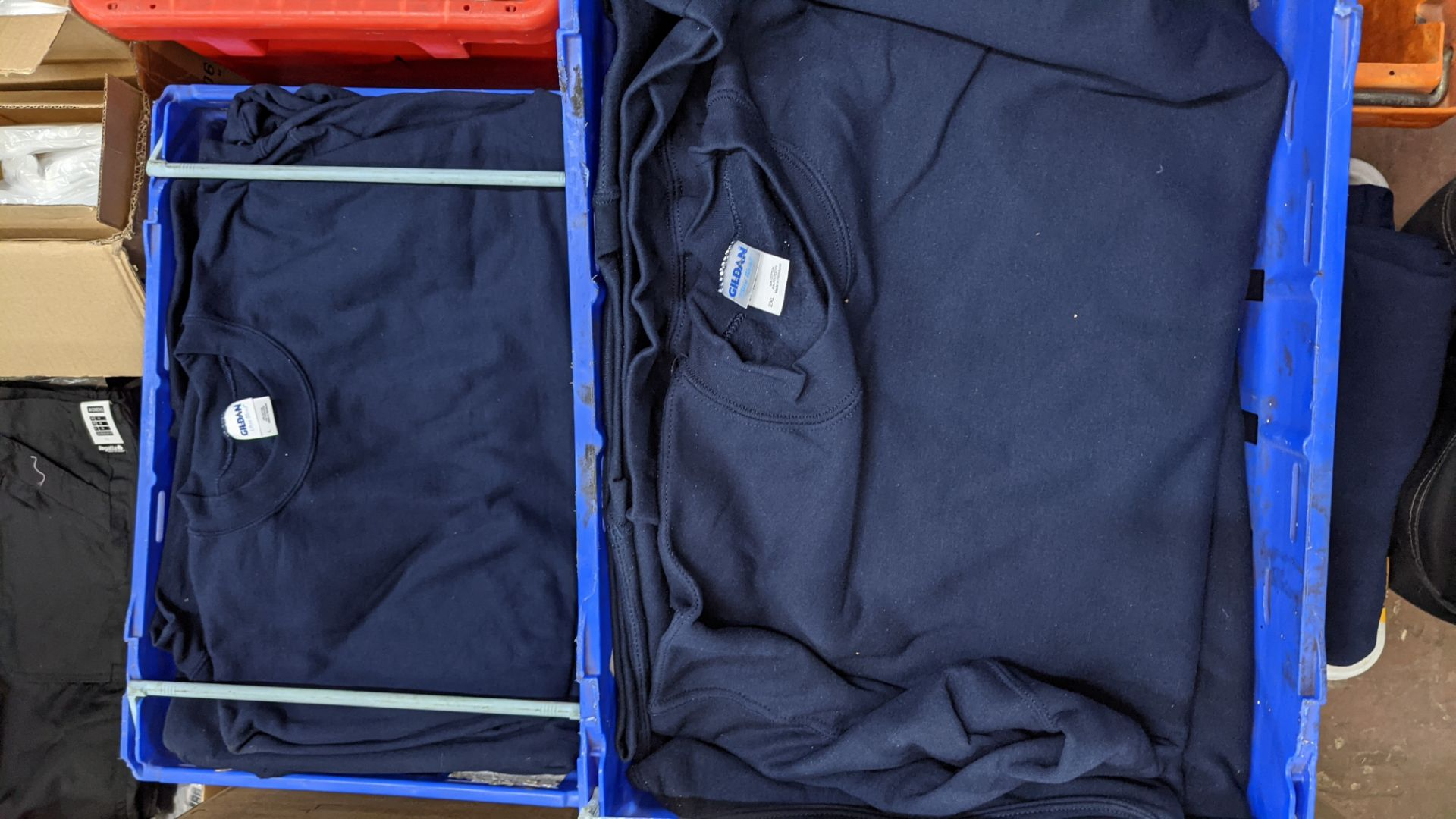 Quantity of blue sweatshirts (2 crates) - Image 2 of 4