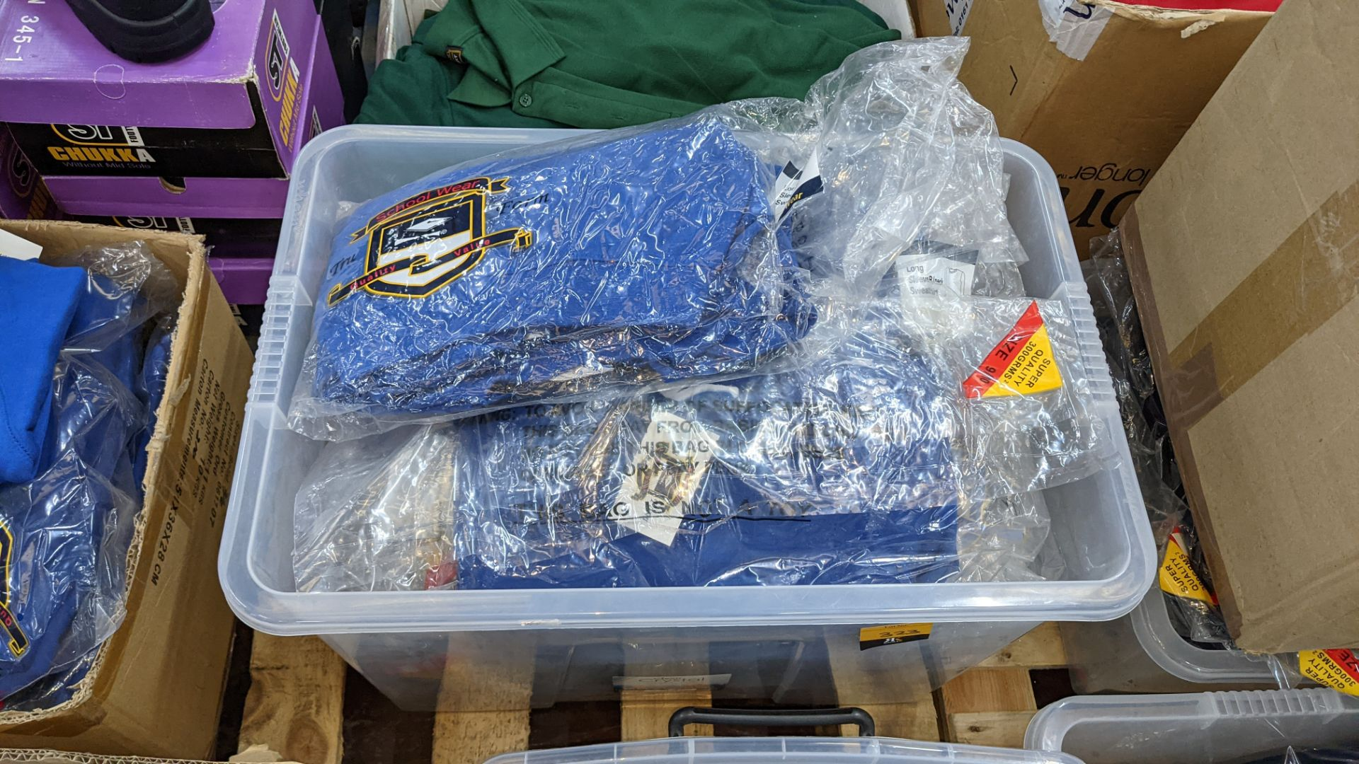 Approx 39 off blue children's sweatshirts & similar - the contents of 1 crate. NB crate excluded - Image 2 of 5