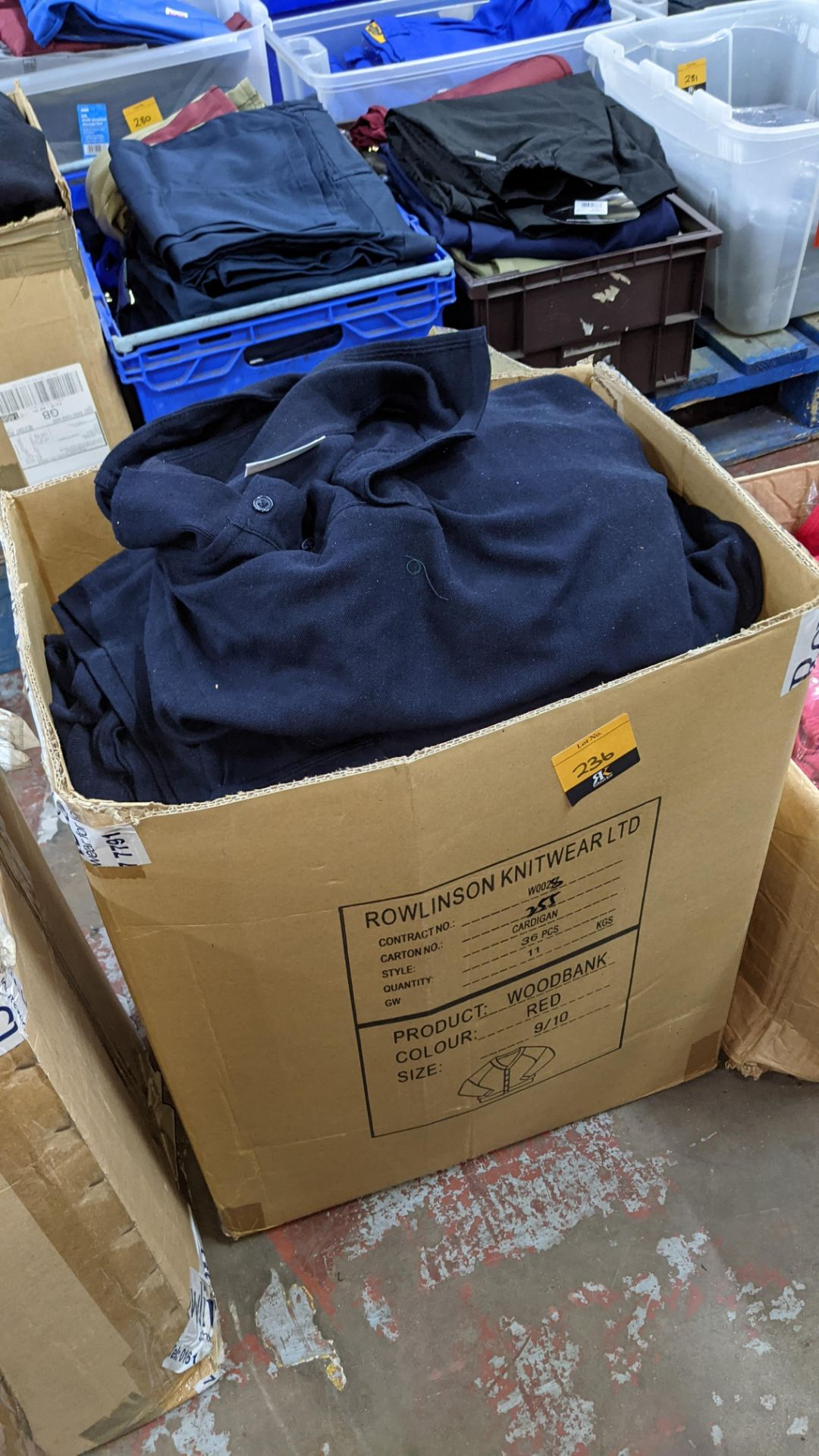Quantity of navy polo shirts in assorted styles - 1 large box - Image 5 of 5