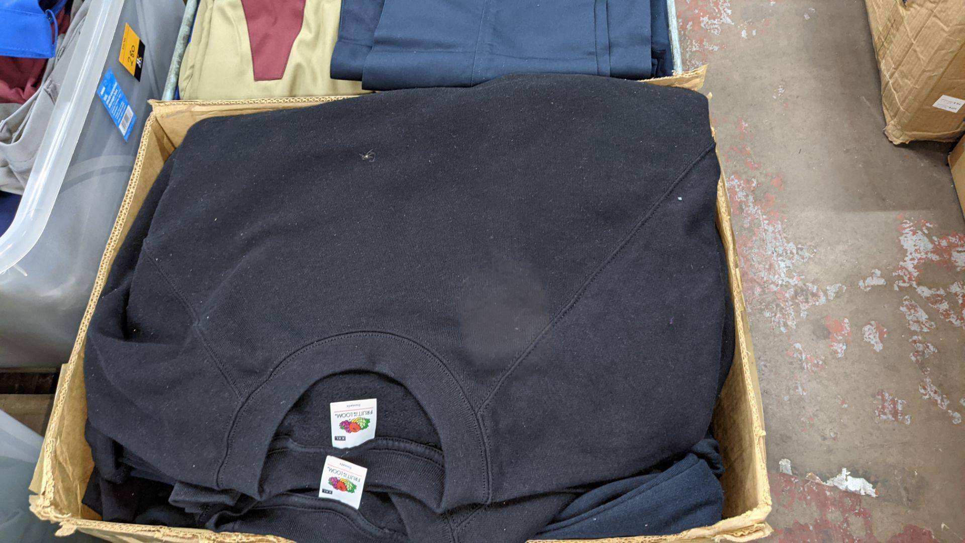 Quantity of black sweatshirts - 1 large box - Image 3 of 4