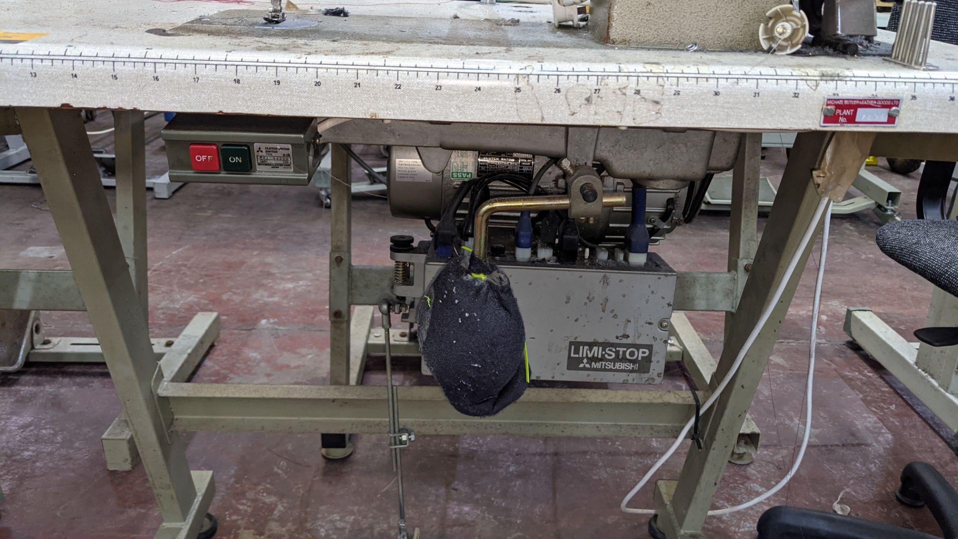 Mitsubishi LS2-180 sewing machine with Mitsubishi LF-C8 digital controller - Image 11 of 12