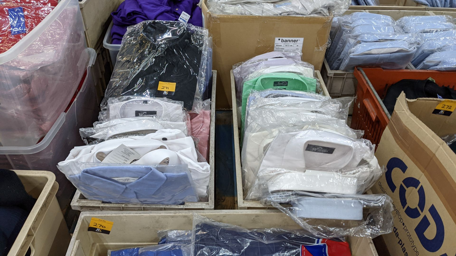 The contents of 2 crates of assorted shirts & other tops. NB crates excluded - Image 2 of 7