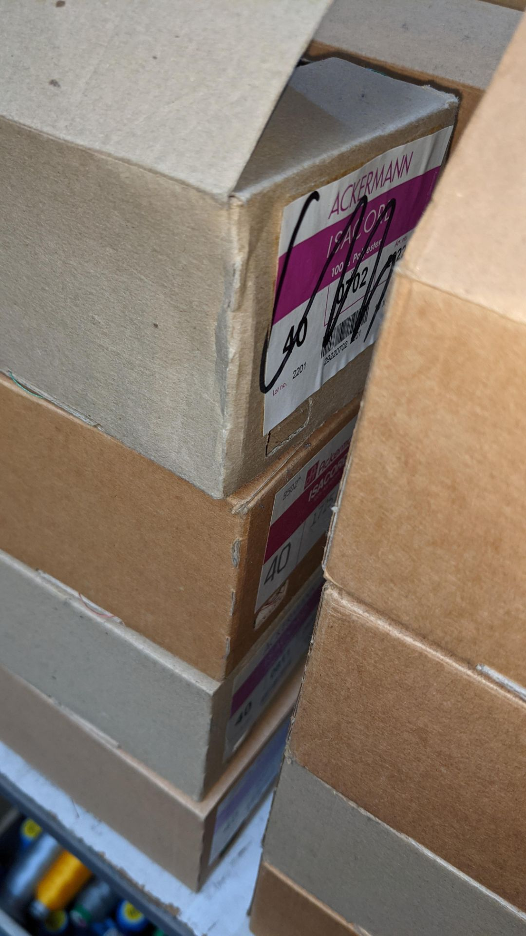 16 boxes of Ackermann Isacord (40) polyester thread - Image 4 of 8