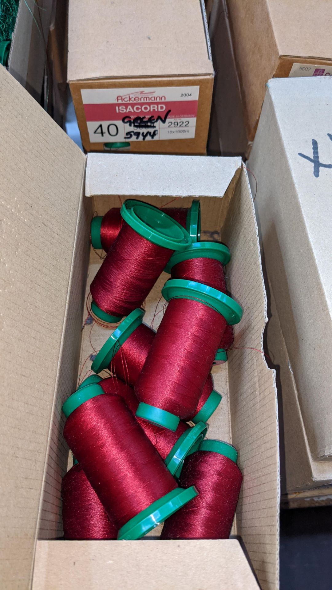 16 boxes of Ackermann Isacord (40) polyester thread - Image 7 of 9