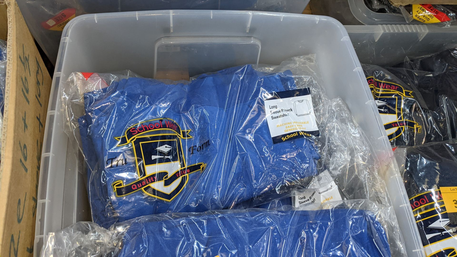 Approx 27 off blue children's sweatshirts & similar - the contents of 1 crate. NB crate excluded - Image 4 of 4