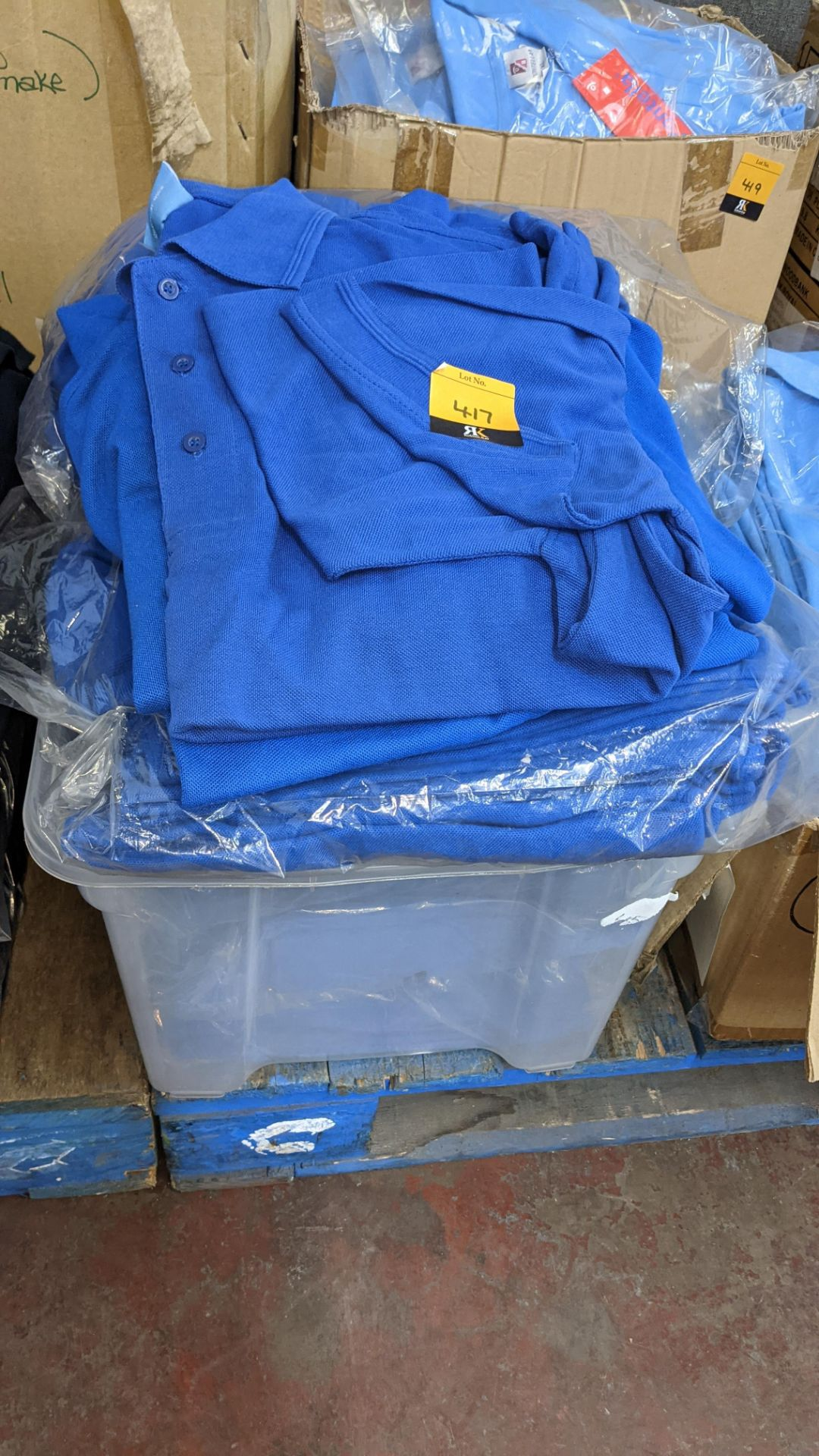 Approx 75 off assorted shades of blue polo shirts - Image 2 of 6