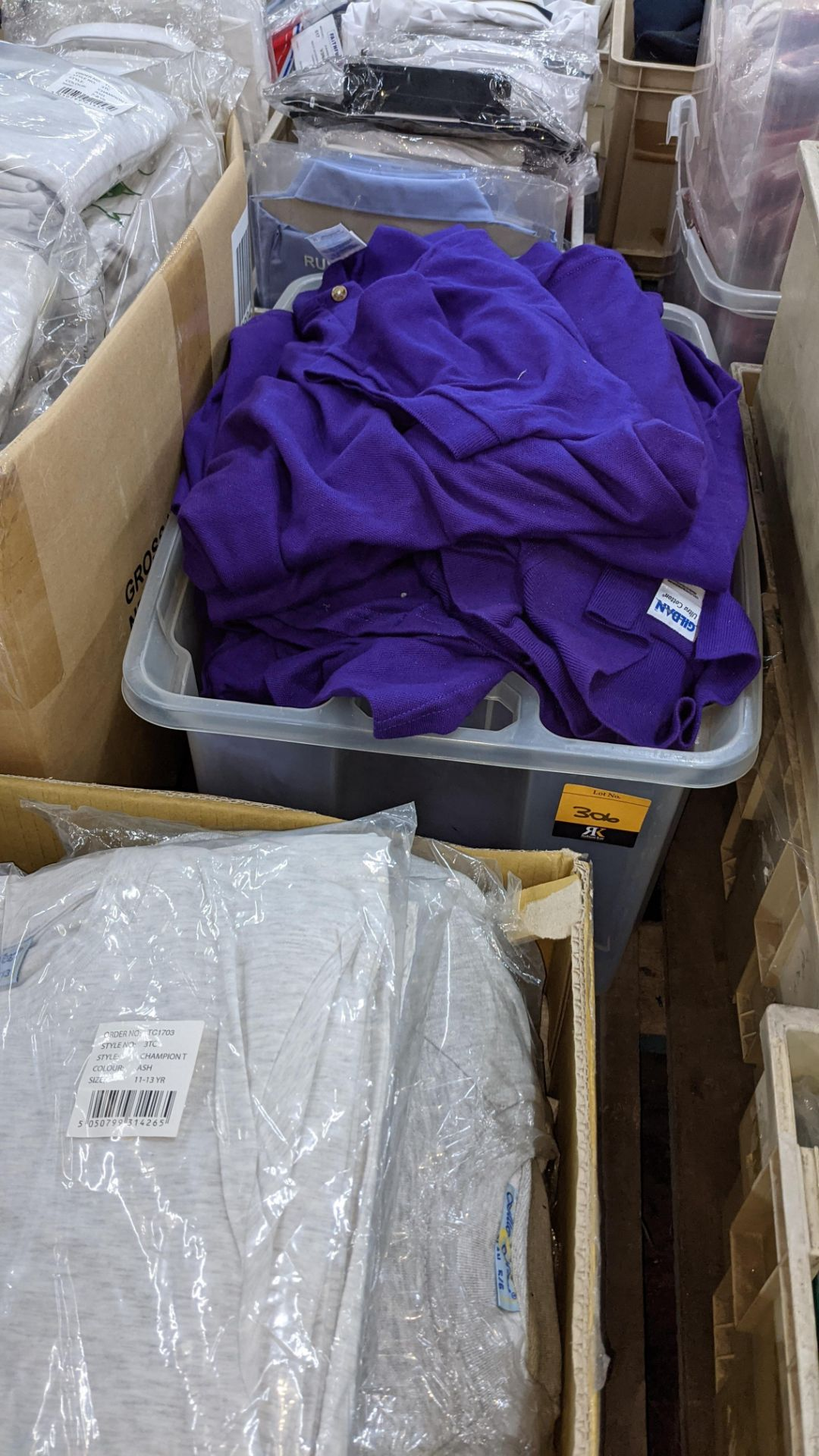 Quantity of Gildan purple polo shirts - the contents of 1 crate. NB crate excluded - Image 2 of 5