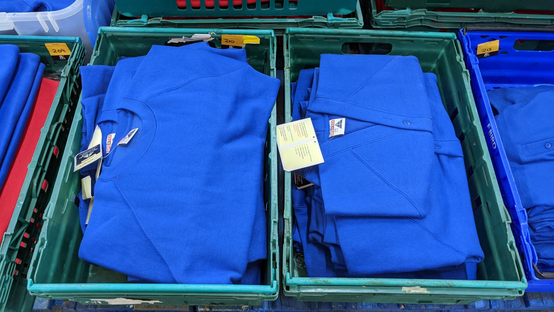 Approx 15 off Sportex children's assorted sweatshirts - the contents of 2 crates. NB crates exclude - Image 2 of 6