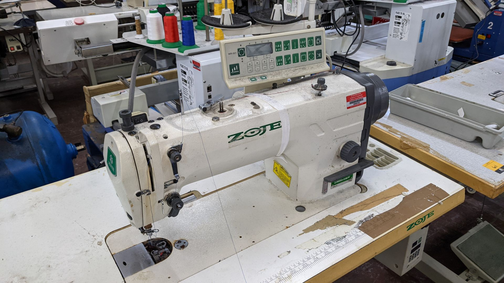 Zoje model ZJ9800A-D3B/PF sewing machine with WR-501 controller - Image 7 of 16