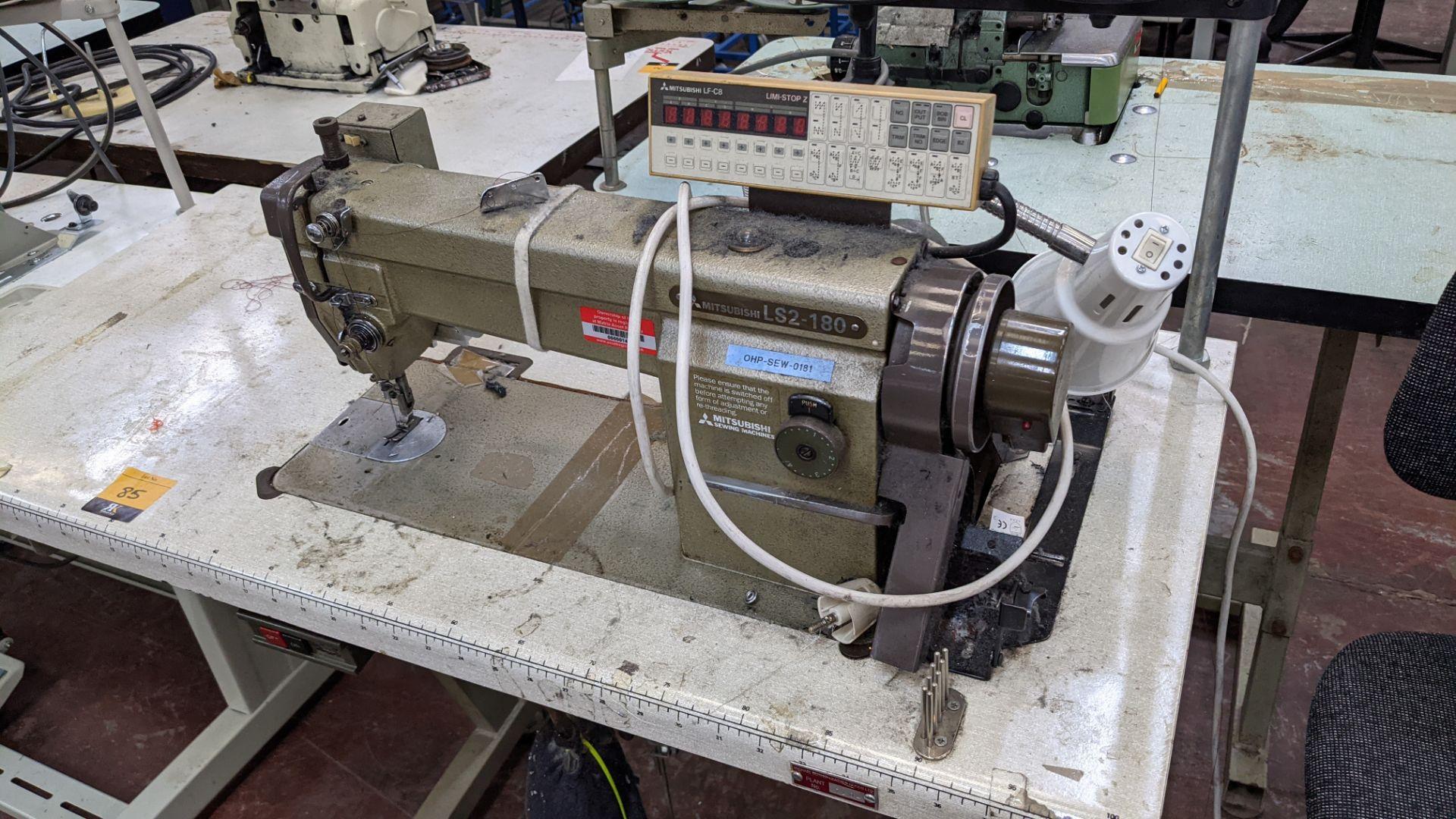 Mitsubishi LS2-180 sewing machine with Mitsubishi LF-C8 digital controller - Image 4 of 12