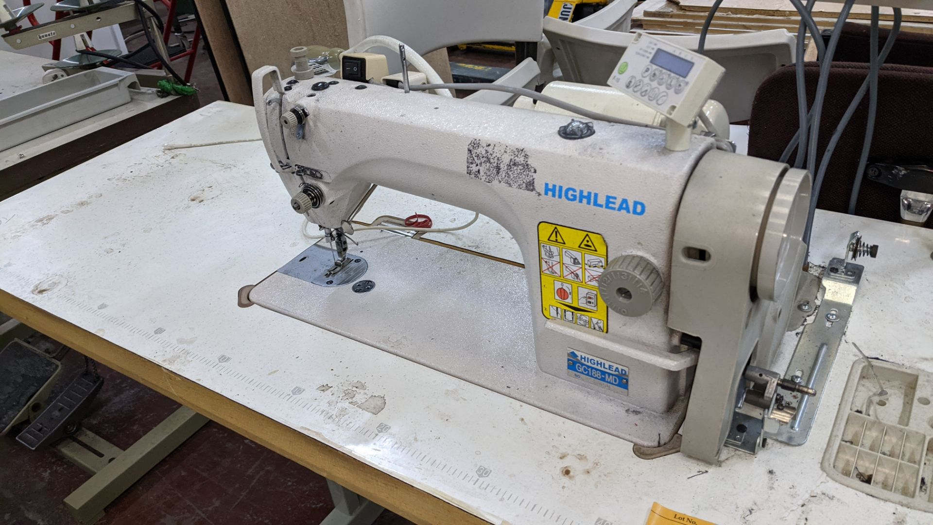 Highlead model GC188-MD sewing machine with model F-10 digital controller - Image 4 of 16