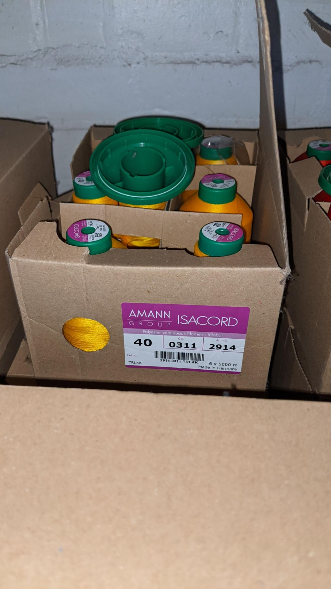 6 boxes of Ackermann & Amann Group Isacord polyester No. 40 embroidery thread - Image 6 of 6