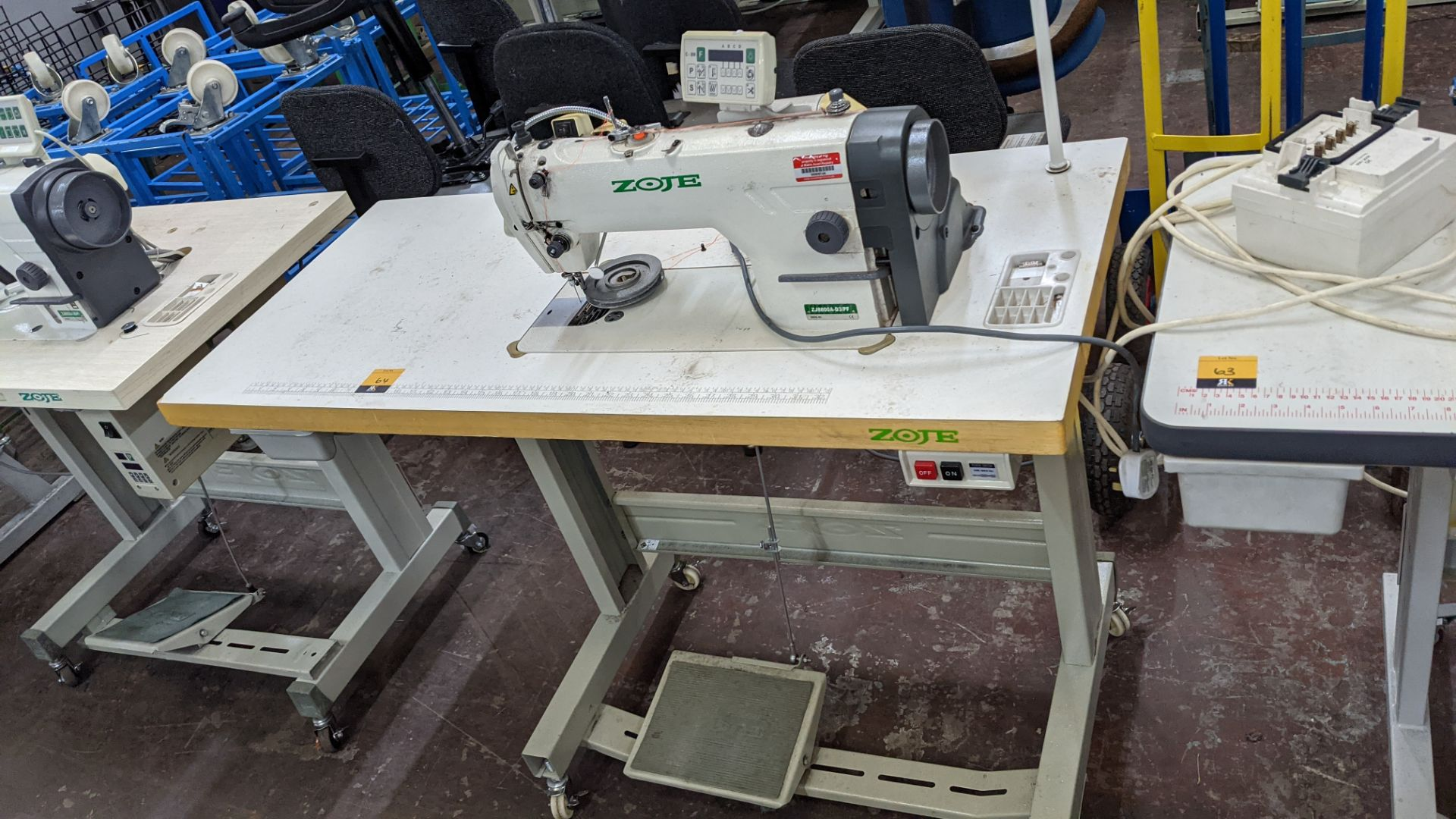Zoje model ZJ8800A-D3B/PF sewing machine with C-200 controller - Image 2 of 16