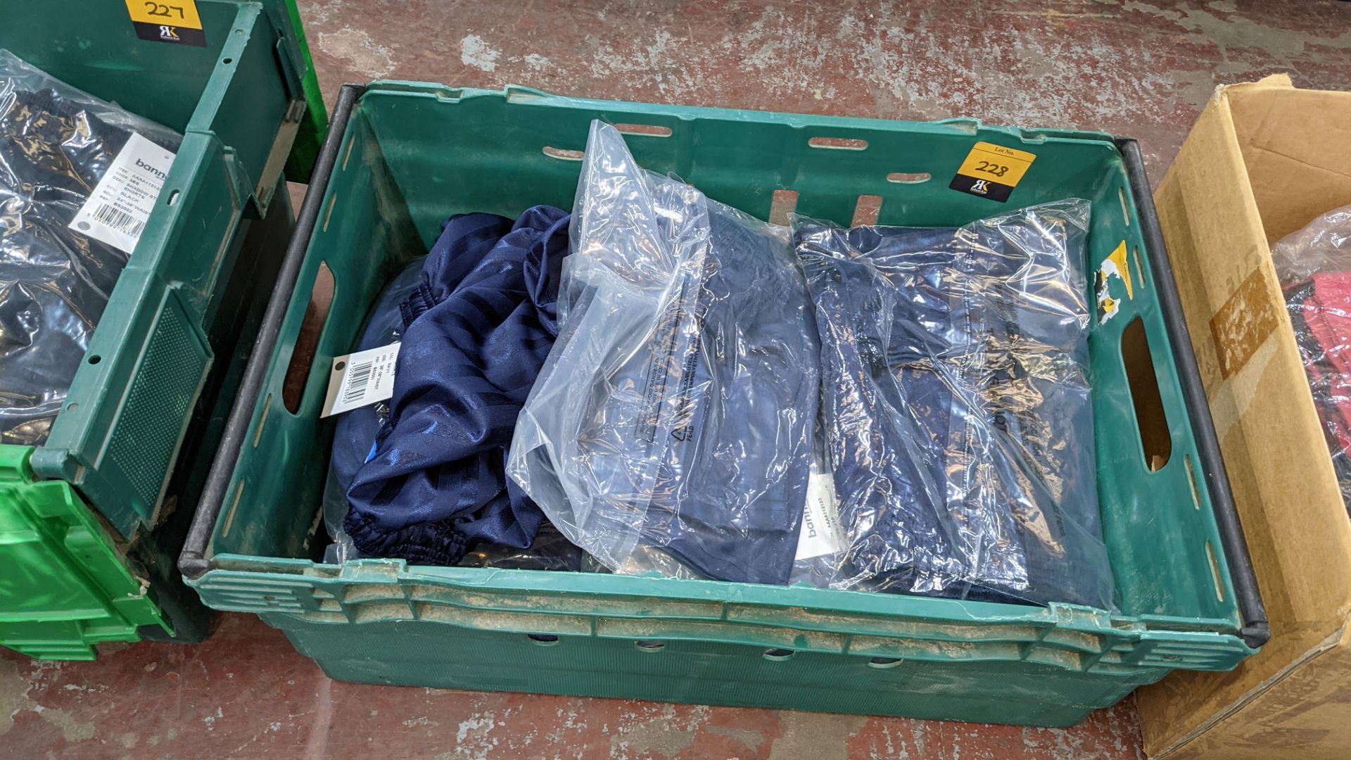 Approx 20 off Banner Sportswear navy children's shorts - the contents of 1 crate. NB crates exclude - Image 2 of 4