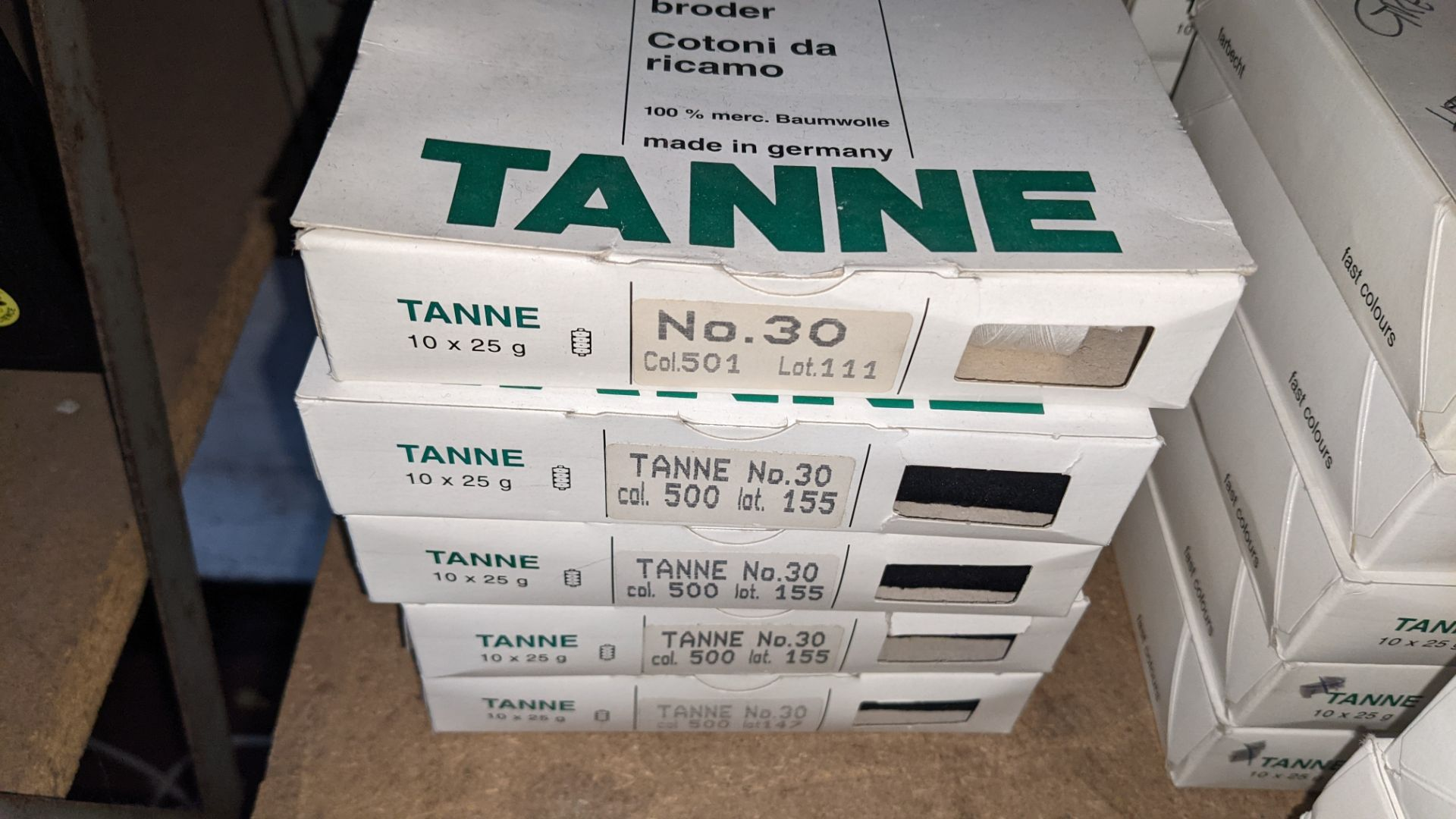 14 boxes of Madeira Tanne (Burmit) cotton embroidery thread - Image 4 of 8