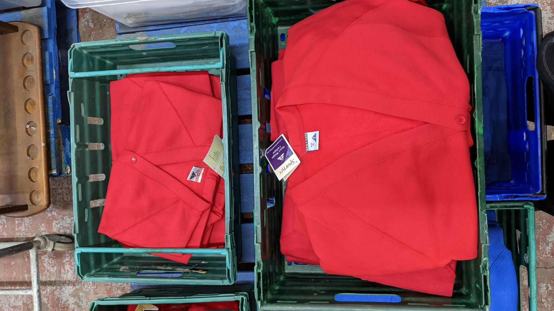 Approx 18 off Sportex children's assorted sweatshirts - the contents of 2 crates. NB crates exclude - Image 3 of 5